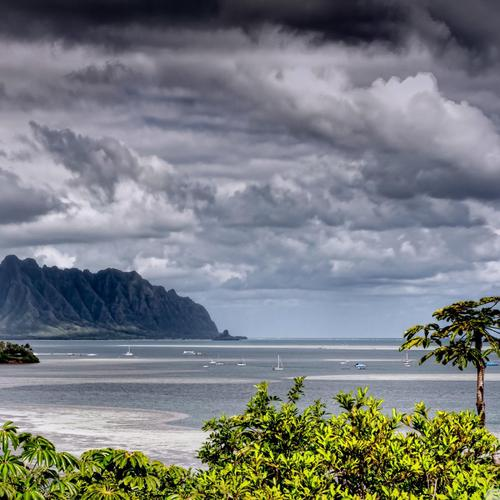 Clouds over Kaneohe Bay
