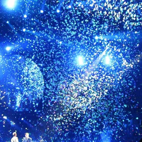 coldplay concert blue