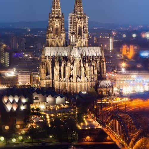 cologne cathedral hohenzollern bridge spain city