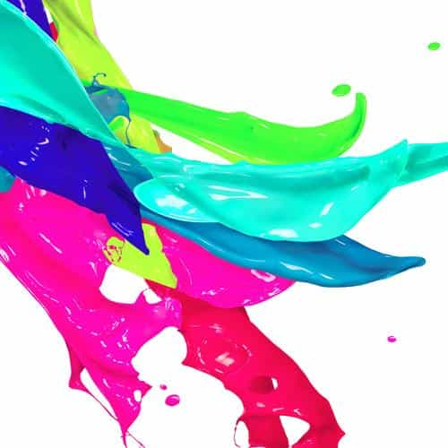 color paint art white art illustration rainbow