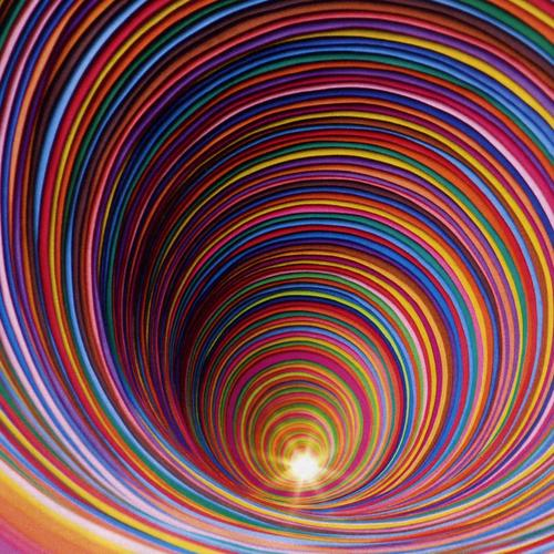 Colorful 3d tunnel wallpaper