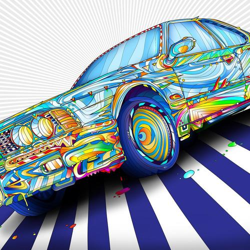 Colorful bmw