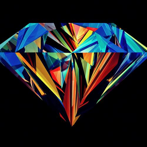 Colorful diamond wallpaper