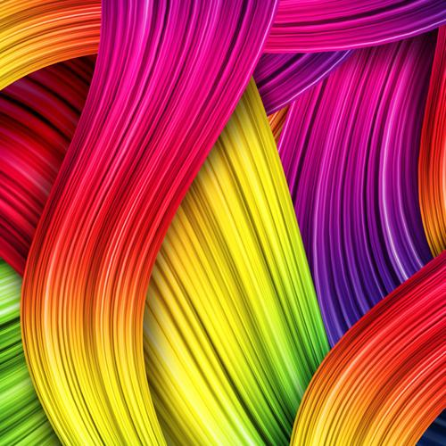 Colorful silks wallpaper
