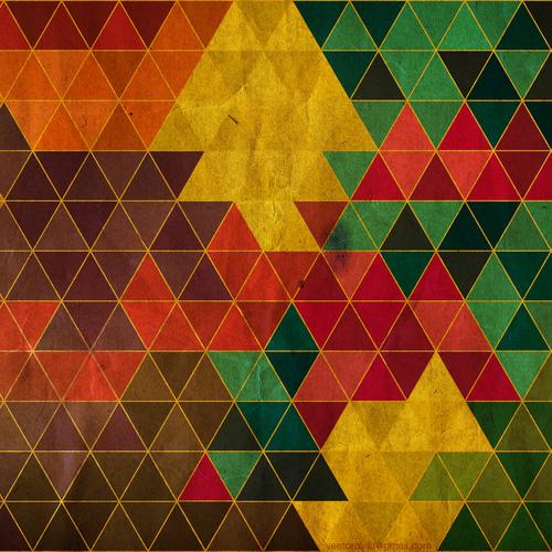 Colorful triangle texture wallpaper