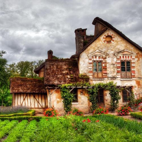Cottage garden Hdr wallpaper