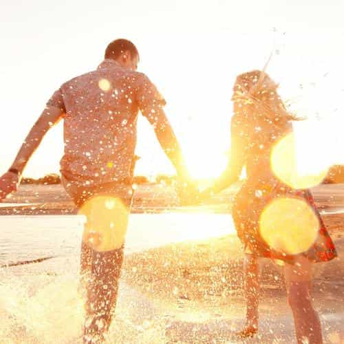 couple love beach happy marry me nature