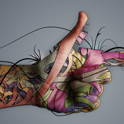Creative hand gunshot