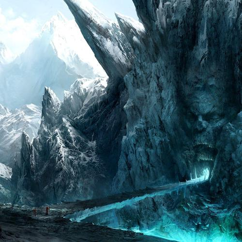 Creepy gate in the icy mountains