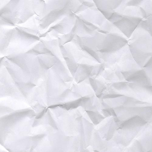 Crumpled white paper texture wallpaper