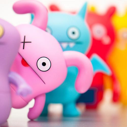 Cute colorful toys