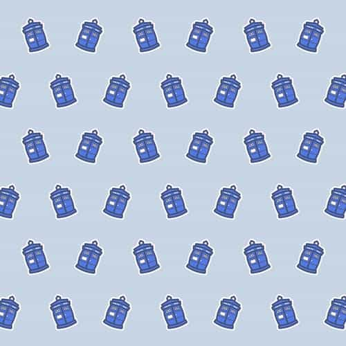 cute police box pattern art