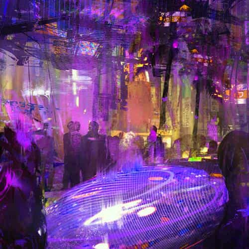 cybseq street wadim kashin paint illustration art purple