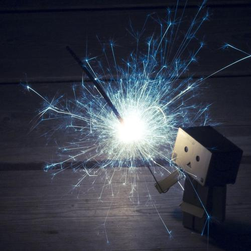 Danbo with sparkler wallpaper