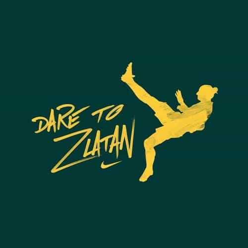 dare to zlatan green sports art