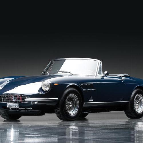 Dark blue Ferrari 330 Gts wallpaper