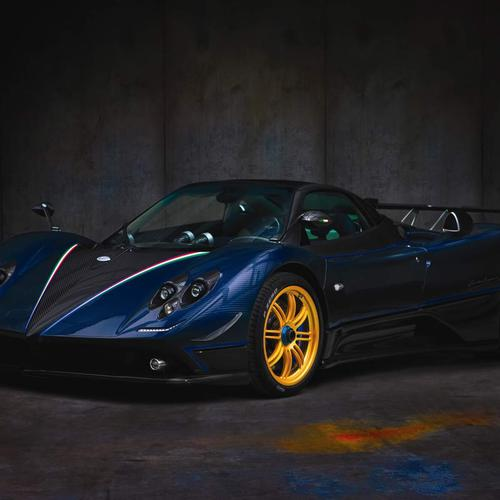 Dark blue Pegani Zonda supercar wallpaper
