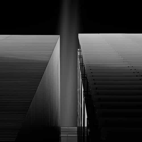 dark bw black building illustration art