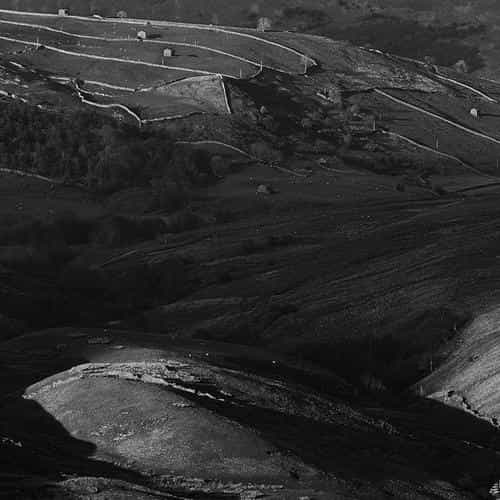 dark field nature mountain bw