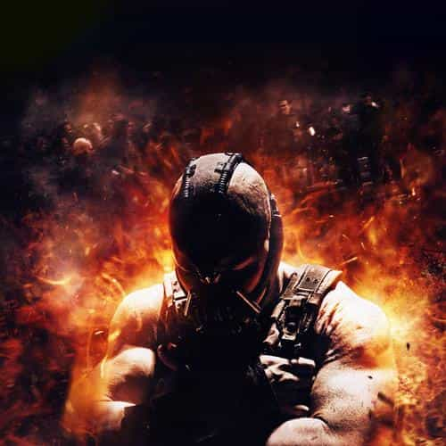 dark knight rises bane fire