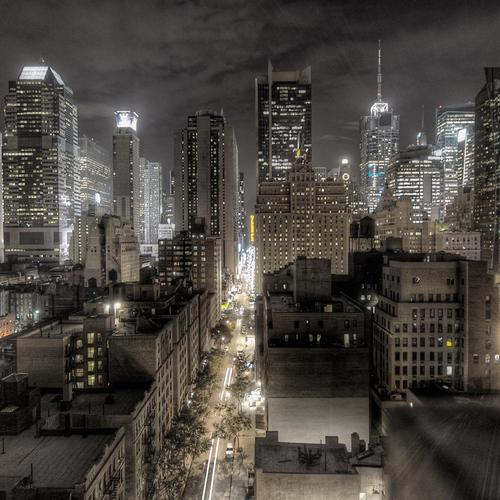 Dark Newyork City 2012 in the night wallpaper