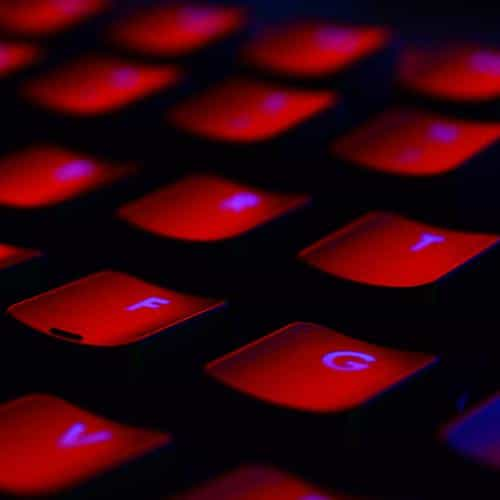 dark red keyboard coding