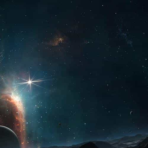 dark space sky planet nature art