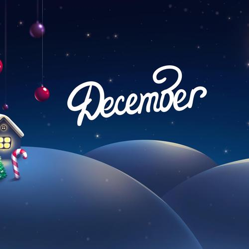 December the Christmas month wallpaper