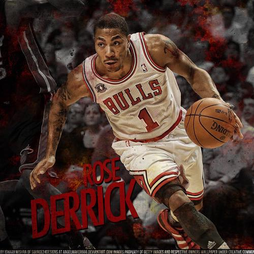 Derrick Rose playing basketball wallpaper