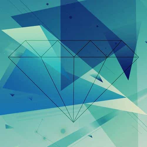 diamond blue illust graphic art