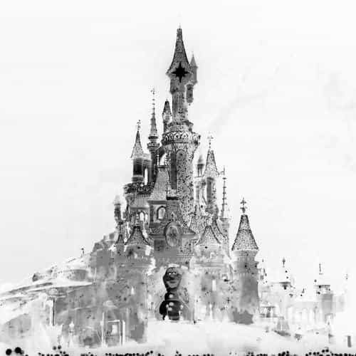 disney art let it go snow illust white