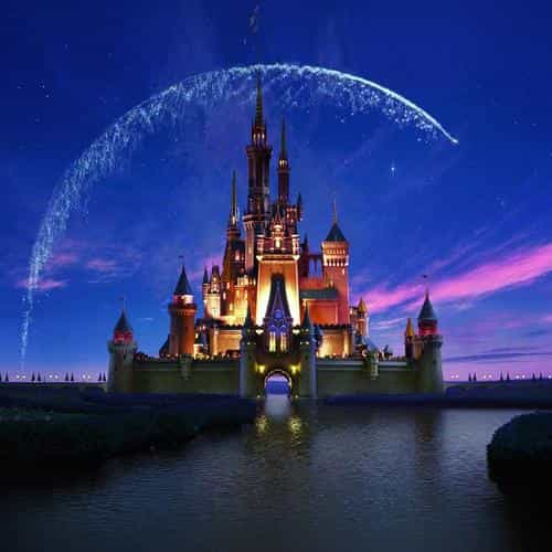 disney castle artwork illust sky