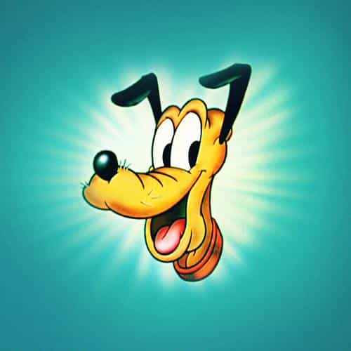 disney pluto green illust animal art
