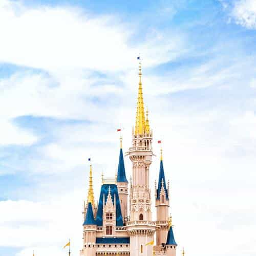 disney world castle sky