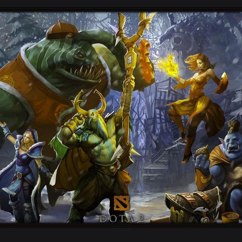 Download DotA 2 Christmas High quality wallpaper