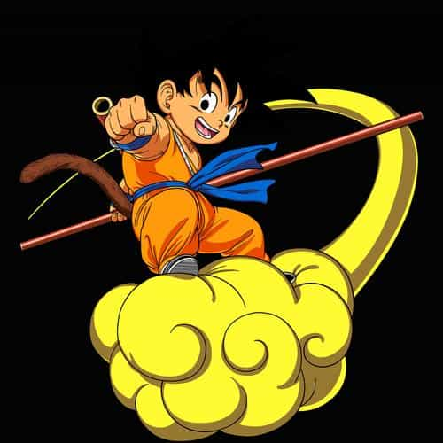 dragonball goku cloud fly anime art illust