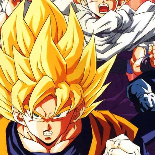 dragonball z goku fire anime