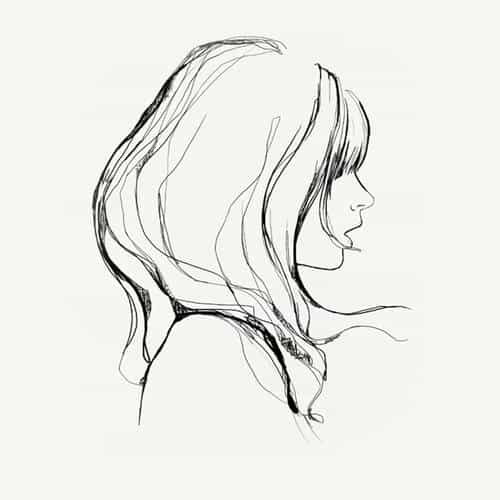 drawing simple minimal girl illustration art