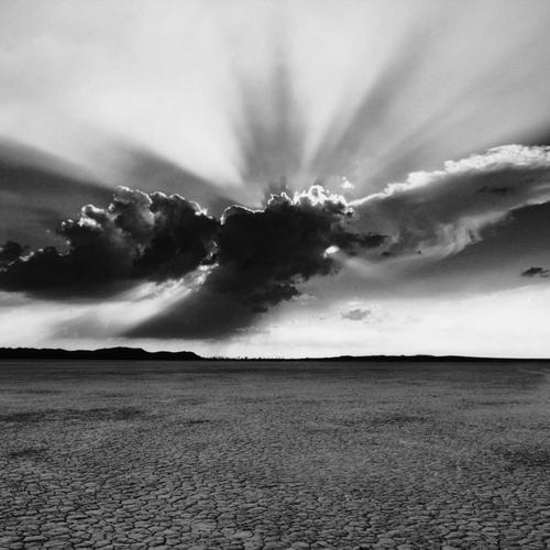 Drought land in Black and white shot wallpaper