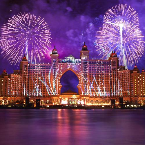 Dubai Infernale fireworks wallpaper