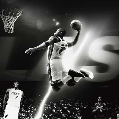 dwyane wade dunk nba flash sports