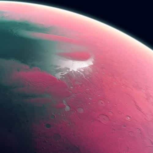 earth art pink dark space