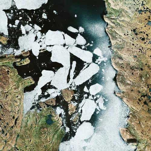 earthview snow ice land space art illustration