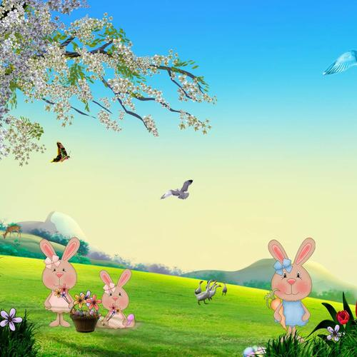 Easter Bunny Spring wallpaper