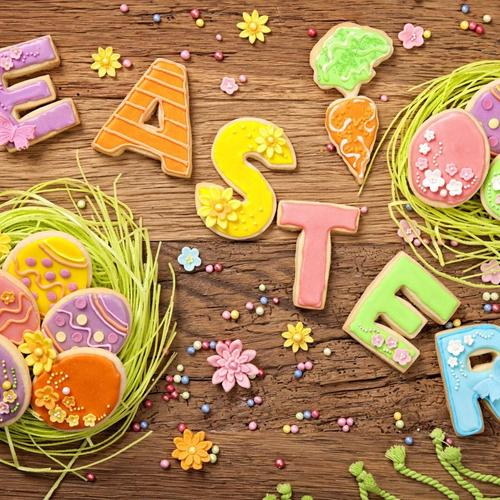 Easter Cookies Spring Eggs wallpaper