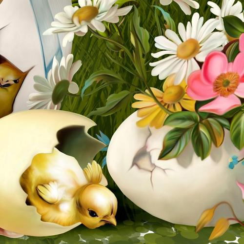 Download Easter happening painting High quality wallpaper