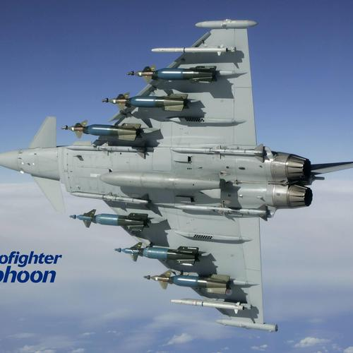 Ef2000 Typhoon fighter aircraft