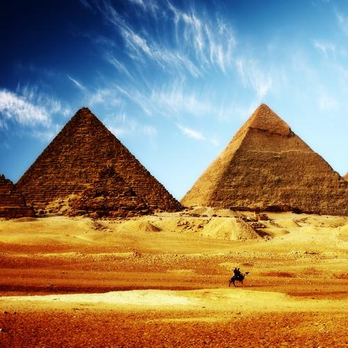 Egypt Pyramids HDR wallpaper