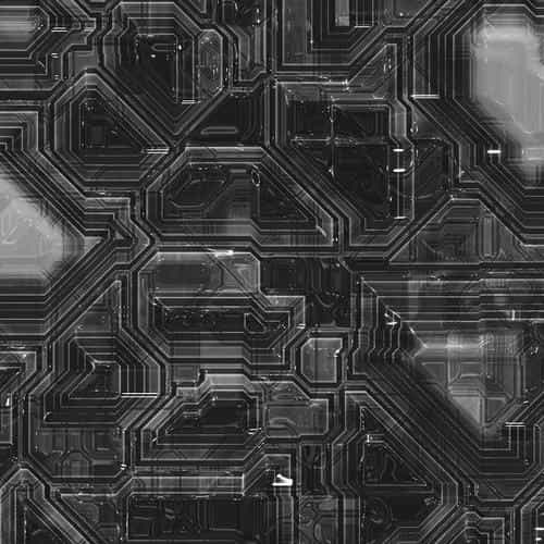 electric mother board pattern background bw dark