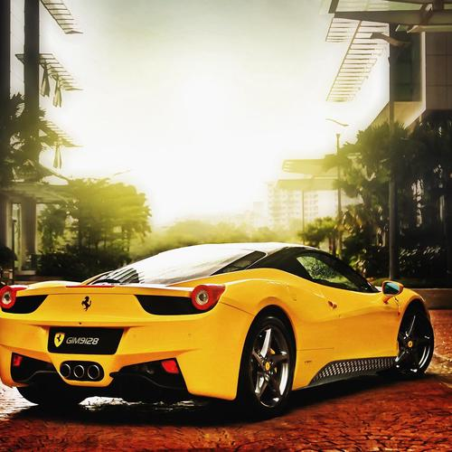 Elegant Yellow ferrari wallpaper